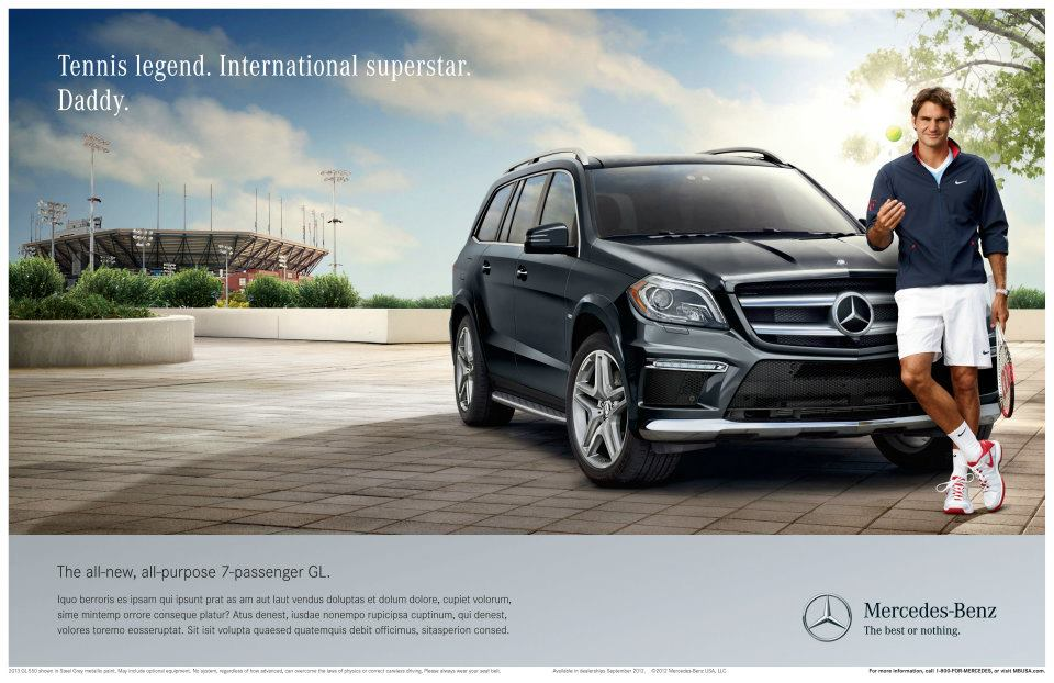 Ethos ethos pathos and logos the modes of persuasion for Comercial mercedes benz